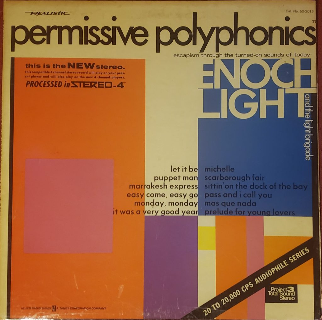 Front sleeve of Enoch Light and the Light Brigade's Permissive Polyphonics