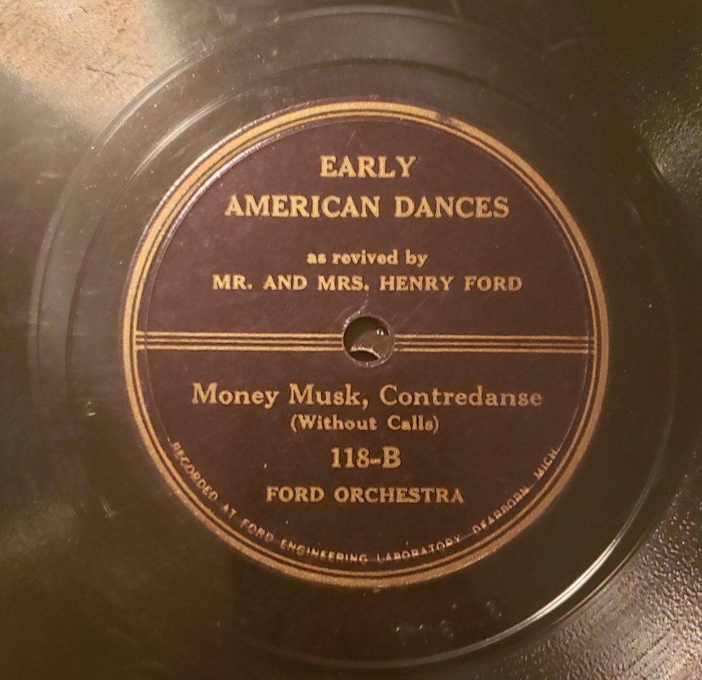 Early American Dances as reviewed by Mr. and Mrs. Henry Ford (B Side)