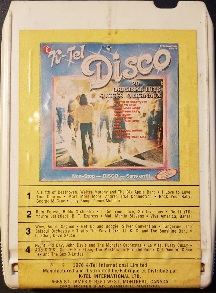 Front cover of the K-Tel's Disco (1976)