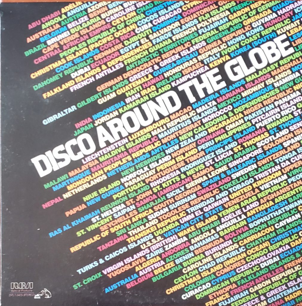 Front cover of Disco Around the Globe LP